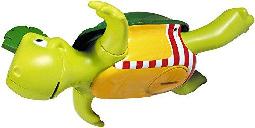 TOMY Wasserspiel für Kinder, 'Plantschi die singende Schildkröte', hochwertiges Babyspielzeug mit Musik, vereint Badespielzeug und Musikspielzeug, ab 12 Monate! Badewannenspielzeug für Wasserspiele