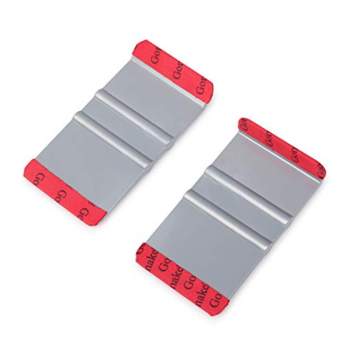 Winjun Vinyl Wraps Mini Rakel mit Microfasser Filzkante, 90° Winkel und 135° Winkel für Folierset Folierungs Werkzeug