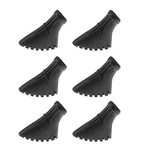 Crestgolf Nordic Walking-Pads für Asphalt, Trekking-Stock-Gummifuß für Asphalt und Stein, 6 Stück / 3 Paar