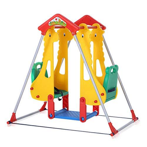 Baby Vivo Kinderschaukel Spielplatzschaukel Gartenschaukel Schaukelgerüst Spielparadies Kinder Zoo