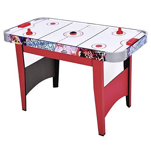 WinMax Airhockeytisch, Airhockey-Tisch mit Luft-Gebläse, Elektronischem Puck und Zähler, 2X Schlägern, 2X Pucks, 121,5X61X78,8 cm Spieltisch