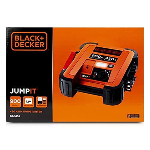 Black + Decker BDJS450-QW Sofort-Starthilfe 450A, Verpolungsschutz