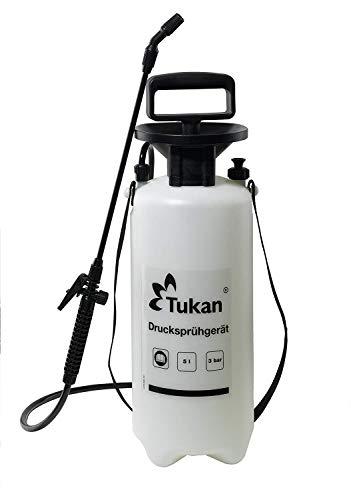 TUKAN Drucksprüher 5 Liter | Gartenspritze/Sprühgerät für den Pflanzenschutz | 5 L Füllinhalt | Verstellbare Düse