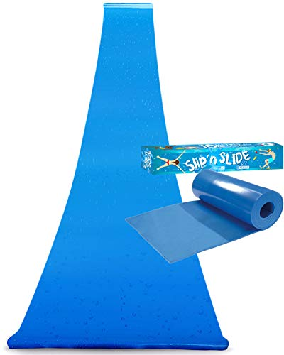 Offizielle XXL Riesige Wasserrutschmatte | 10 Meter Wasserrutsche | Bauch Rutscher Premium Qualität | Slip'n Slide | Wasserspiel im Freien | Freiluftspiel | Schnellste Rutsche | 100% Spaß