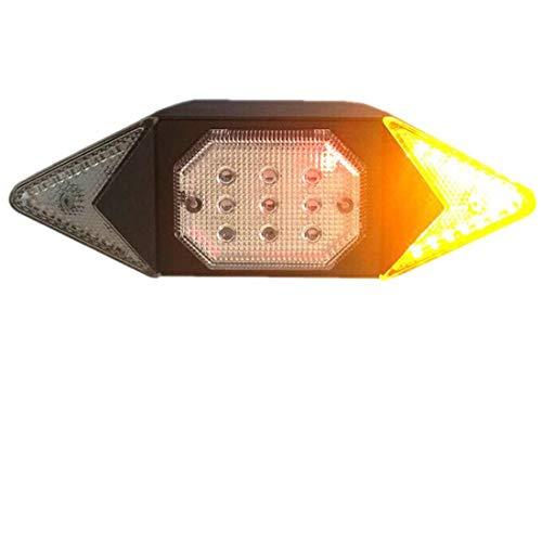 Fahrrad Blinker USB Wiederaufladbare Blinkerrücklicht mit Drahtlose Fernbedienung, IPX4 Wasserdichtes Rückleuchte Lenklicht für Mountainbike