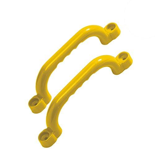 KBT Haltegriffe 1 Paar (2 Stück) Für Spielgeräte, Spieltürme, Stelzenhäuser, Spielhäuser und Spielanlage (Gelb)