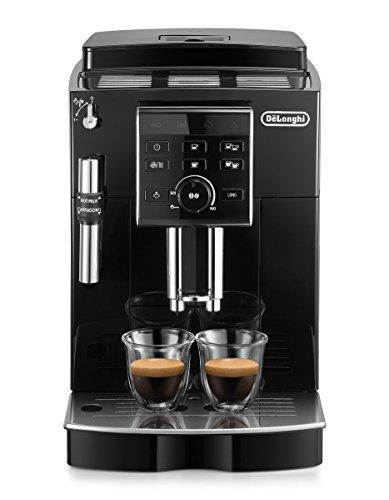 De'Longhi ECAM 25.120.B Kaffeevollautomat mit Profi-Milchaufschäumdüse für Cappuccino, mit Espresso- und Kaffee Direktwahltasten und Drehregler, 2-Tassen-Funktion, Großer 1,8 Liter Wassertank, schwarz