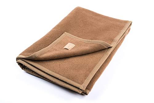"""Ritter Decken Kamelhaardecke """"Maharadscha 150 x 220 cm Kamel (ungefärbt) aus 100% Kamelhaar (Natur) weich. Wolldecke aus eigener Herstellung. Geeignet als Wohndecke, Kuscheldecke und Tagesdecke"""