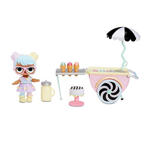 L.O.L. Surprise! 564911E7C Furniture - Puppenmöbel und Sammelfigur mit Zubehör Ice Cream Pop-Up mit Bon Bon, 10 Überraschungen