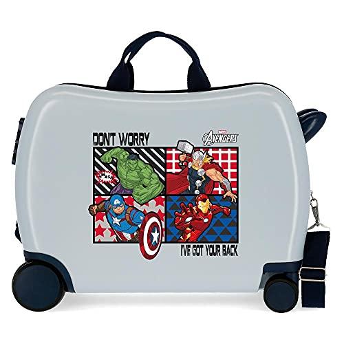 Marvel Avengers All Avengers Kinder-Koffer Mehrfarbig 50x38x20 cms Hartschalen ABS Kombinationsschloss 34L 2,1Kgs 4 Räder Handgepäck