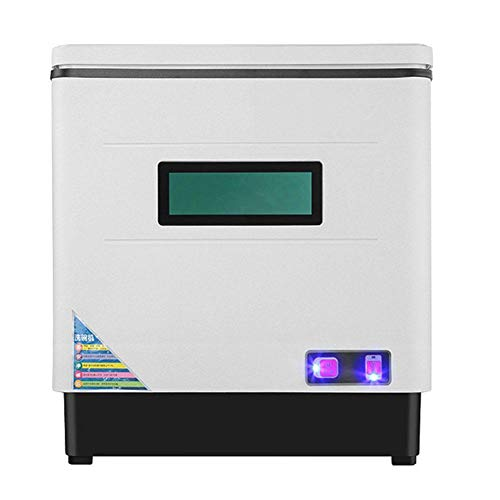 Geschirrspüler, 220V Automatic Tischgeschirrspüler Mini-Geschirrspüler Spülmaschine Geschirrspülmaschine Countertop Dishwasher für ein 6-Port 6-Set-Menü, Edelstahl 42x38x46cm