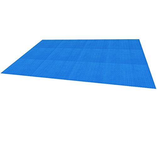 ECD Germany Pool Solarfolie Eckig 6x4 m 400µm Blau, PE Luftpolsterfolie, schnellere Wassererwärmung & geringere Wasserverdunstung, Pool Solarplane Solarabdeckplane Poolabdeckung Poolheizung Wärmeplane