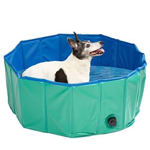 Faltbares Hundepool, Planschbecken, Extra Groß 160X30cm - Robustes, Hochwertiges PVC mit Verstärkten Oxford-Wänden| Haustier Schwimmbecken, Badewanne, Welpen Katzen Kinderpool Doggy Pool.