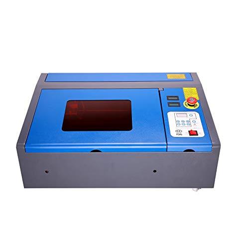 Orion Motor Tech Premium 40W CO2 Laser Graviermaschine 200mm x 300mm Lasergravurmaschine USB Cutting Engraver Graveur Lasergravur Rotlicht Gravurmaschine Engraving mit Rädern