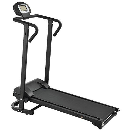 in.tec] Laufband mechanisch [schwarz] mit LCD-Display klappbar Heimtrainer