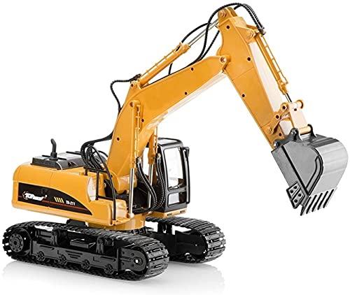 Top Race Metallguss-Bagger-Bau-Spielzeug-Traktor, Bagger-Spielzeug mit - Metallschaufel - TR-211D