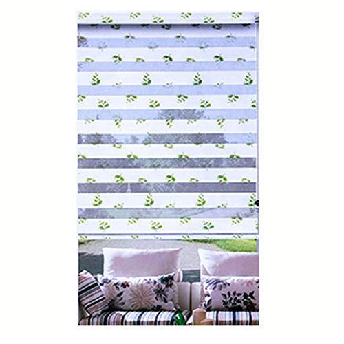 LIQICAI Doppelrollo, Wasserdicht Duo Rollo Für Fenster Und Türen Seitenzugrollo mit Installationszubehör, Anpassbare Größe (Color : White, Size : 50x220cm)