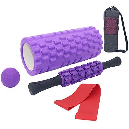 Soulpala Faszienrolle Foam Roller Set 5 in 1,Muskelroller,Faszienrolle Faszienball Widerstandsbänder und Aufbewahrungstasche,Schaumstoffrolle zum Faszien Training der Muskeln und Schmerztherapie