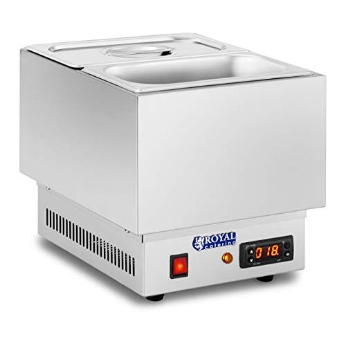 Royal Catering - RCCM-250-GN - Schokoladen Temperiergerät - 250 Watt Leistung - 2 x 1/4-GN-Behälter