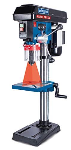 scheppach Profi-Säulenbohrmaschine DP19Vario - 230-240V 50Hz | Variable Drehzahl | Bohrfutterspannbereich von 1,5 bis 16 mm| 550W | für Holz, Metall und Kunststoff | Laser | Digitale Drehzahlanzeige