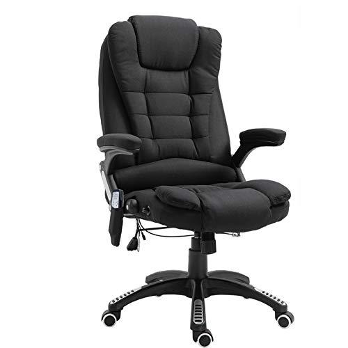 Vinsetto Massagesessel Chefsessel mit Massagefunktion höhenverstellbarer Drehstuhl ergonomischer Gamingstuhl Bürostuhl massage Schwarz 67 x 67 x 116–126 cm