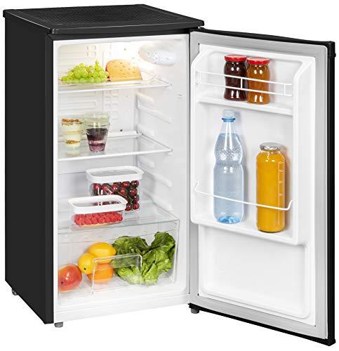 Exquisit Kühlschrank KS 85-9 RVA+swPV | Kühlen 82 Liter | Breite 45 cm | Türanschlag wechselbar | Schwarz