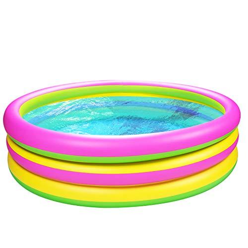 Joyjoz Kinder Planschbecken 150cm Gartenpool Aufblasbare Pool Kinder Schwimmbad Kinderpool Babypool Swimmingpool für Familien, Garten und Outdoor