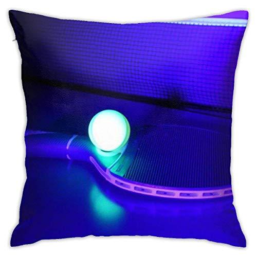 pingshang Kissenbezüge, Tischtennis Baumwolle Polyester Kissen Quadratische Hüllen Pilloases Sofa Home Decor 18 'X 18'
