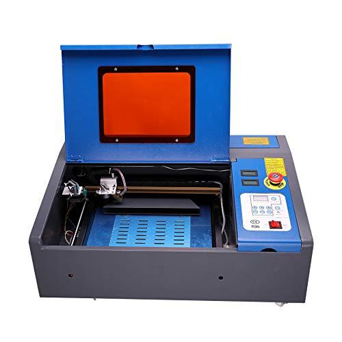 Sfeomi Premium 40W CO2 Laser Graviermaschine 200mmx300mm USB Cutting Engraver Graveur Lasergravur Rotlicht Gravurmaschine Engraving mit Rädern