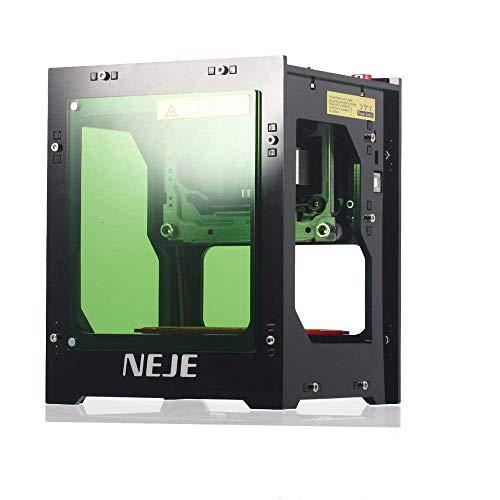NEJE Laser Gravur gravierer Drucker, Graviermaschine 1500mW 490x490 Pixel,Dual-USB-Buchse, Acryl-Filter mit magnetischer Absaugung, EIN-klick-Bedienung, Keine Notwendigkeit von G-Code
