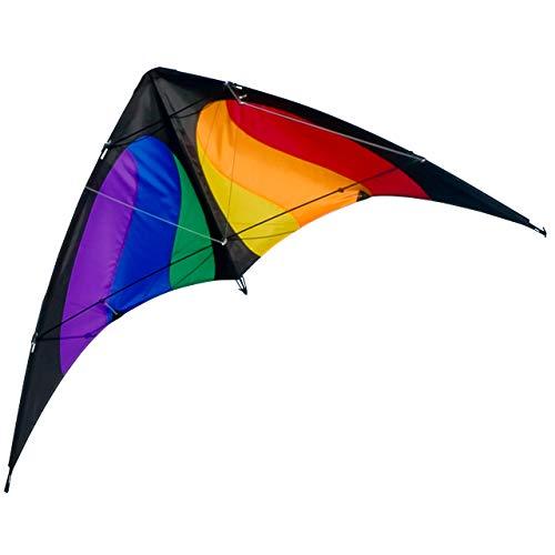 CIM Lenkdrachen - NUNCHAKU MUSTHAVE - Kite für Kinder ab 8 Jahren - Abmessung: 120x60cm - inkl. Steuerleinen auf Rollen (Nunchaku)