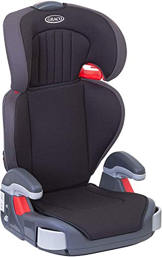 Graco Junior Maxi Kindersitz 15-36 kg, Kindersitzgruppe 2/3, Kindersitzerhöhung, 4 bis 12 Jahre, Armlehnen und Kopfstütze höhenverstellbar, leicht, mit Getränkehalter, schwarz, Black