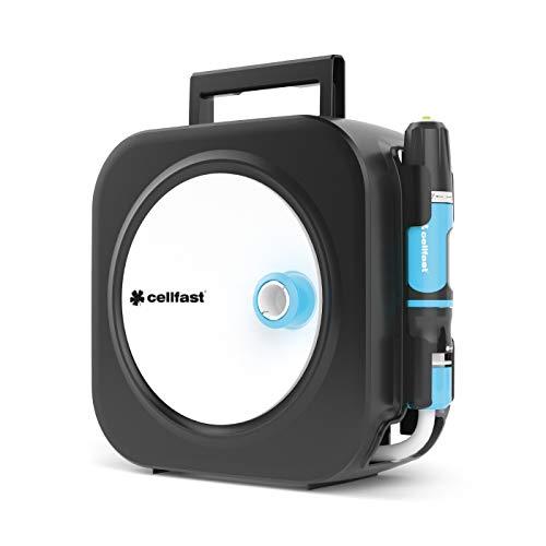 Cellfast Schlauchbox, Schlauchtrommel ERGO XS, funktionale, kompakt und wiederständig inklusive Schlauch 3/8' 9mm x 10m und Anschlussgarnitur 2m 55-400 '