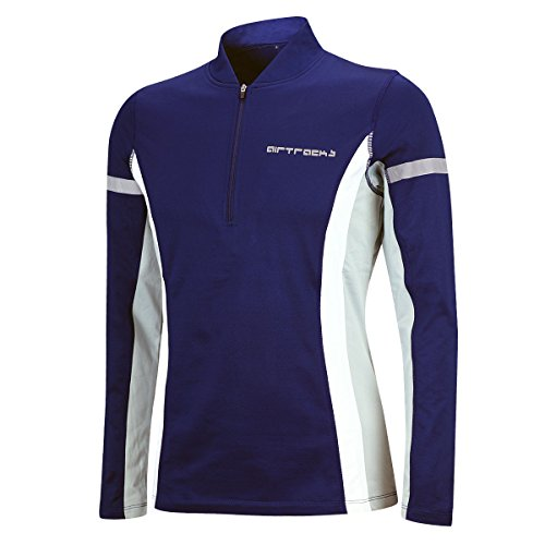 Airtracks Winter Funktions Laufshirt/Damen oder Herren/Thermo Funktionsshirt/Fleece Running T-Shirt/Reflektoren/Langarm - blau - XXL - Herren