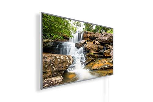 Könighaus Fern Infrarotheizung - Bildheizung in HD Qualität mit TÜV/GS - 200+ Bilder – mit Smart Home Thermostat, steuerbar mit APP für Handy- 1000 Watt (11. Wasserfall)