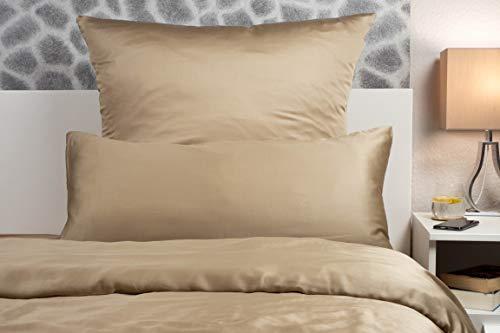 Peach Bettwäsche-Sets aus 100% Bambus (Khaki, Bettdeckenbezug 135 x 200cm + Kopfkissenbezug 80 x 80cm)