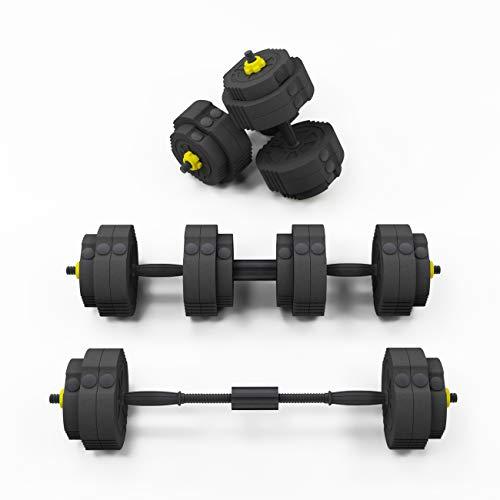 soges Verstellbares Hantel-Set, Heim-Fitnessgerät, Training mit Verbindungsstange, verwendet als Langhanteln, Hanteln, 25 kg Hantelgewicht