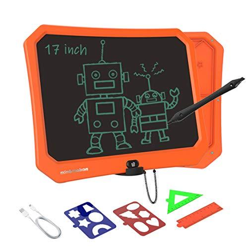 VNVDFLM 17 Zoll Electronic Graphics Tablet Tragbare Schreibtafel für Geburtstagsgeschenke,Kinderspielzeug für Kinder -LCD-Schreibtablett mit Stylus Smart Paper (Orange)