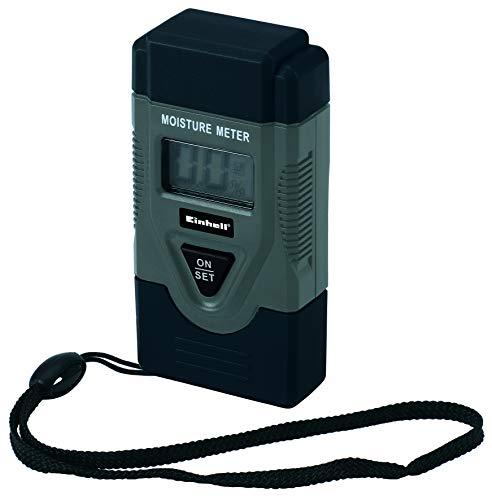 Einhell Holzfeuchte-Messgerät (LCD-Display, Trageschlaufe, automatische Abschaltfunktion, Messbereich Holz 6-42%, Feststoffe 0,2-2%, Warnung bei niedriger Batterieladung)