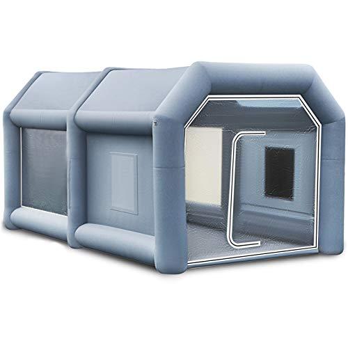 VEVOR Aufblasbare Lackierkabine Zelt aufblasbar Auto Sprühkabine Lack Zelt 13x8x7Ft für Auto Lack aufspritzen