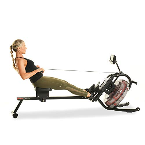 FITNESS REALITY 3000WR Bluetooth Water Rower Rudergerät mit HIIT-Workout