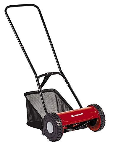 Einhell Hand-Rasenmäher GC-HM 30 (für bis zu 150 m², Mähspindel mit 5 Stahlmessern, stufenlose Schnitthöhenverstellung 15 - 42 mm, Grasfangkorb)