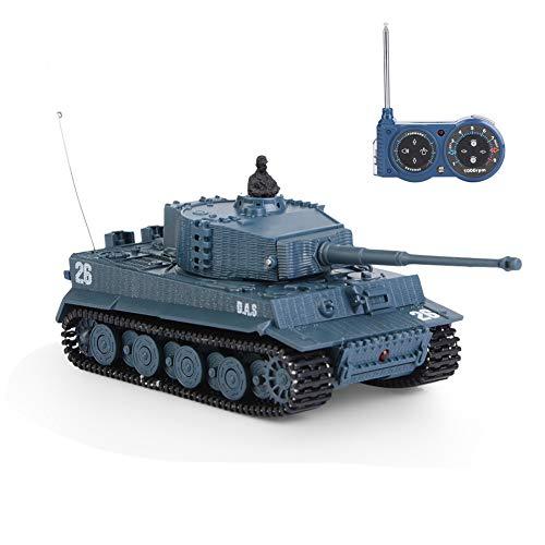Tbest RC Panzer Fernbedienung Kampfpanzer Battle Panzer Tank Spielzeug mit Motor Turmbewegung und Soundeffekte RC Ferngesteuerter Kampfpanzer 1/72 4 Kanäle für Kinder Geschenk