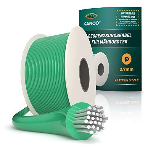 kanoo® Begrenzungskabel für Mähroboter – Universell kompatibel – Begrenzungsdraht aus Qualitätskupfer – Mähroboter Kabel für Rasenroboter von Husqvarna, Gardena, Bosch, Stihl, uvm. Ø2,7mm - 50m