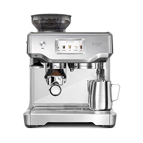 Sage Appliances SES880 the Barista Touch, Espressomaschine, Gebürsteter Edelstahl