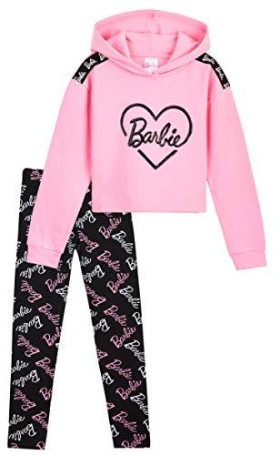 Barbie Jogginganzug Kinder Mädchen. Leggings und Hoodie Mädchen Set, Baumwolle Trainingsanzug Kinder 4-14 Jahre, Hausanzug Mädchen Teenager (Mehrfarbig, 13-14 Jahre)