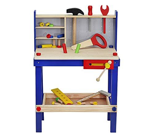 MALATEC Werkbank Set Holzwerkstatt Heimwerker Schrauben Schraubstock Alles aus Holz 6860