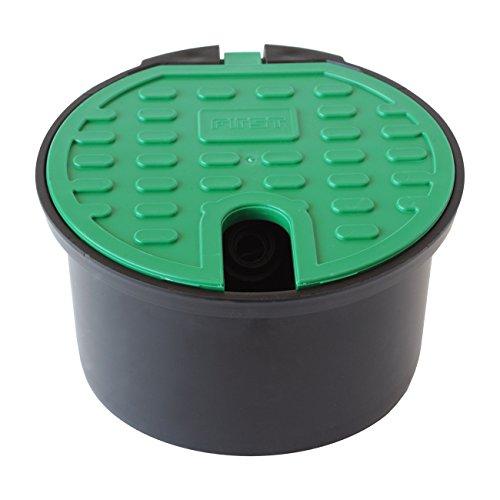 First Plast PZA200 Gartenbrunnen mit Frostschutzventil, schwarz/grün, Ø 200 mm