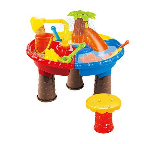 OPALLEY Kinder Spieltisch Sand and Water Sand & Wasser Spieltisch Spielzeug Sandspieltisch Wasserspieltisch Buddeltisch Zubehör 2IN1inkl.Kinder Sandspielzeug ab 3 Jahren
