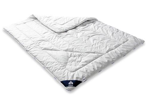 Badenia Bettcomfort Irisette Kamel Steppbett, Duo Bettdecke aus Kamelhaar für den Winter, 155 x 220 cm, weiß